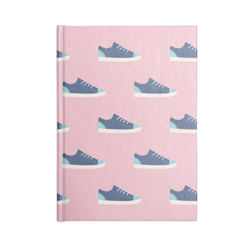 Blue Sneakers Pattern Accessories Blank Journal Notebook by abstractocreate's Artist Shop