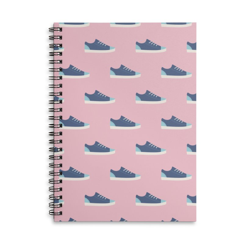 Blue Sneakers Pattern Accessories Lined Spiral Notebook by abstractocreate's Artist Shop