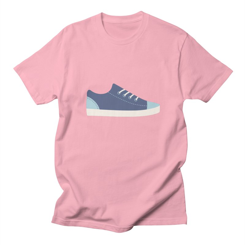 Blue Sneakers Pattern in Men's Regular T-Shirt Light Pink by abstractocreate's Artist Shop