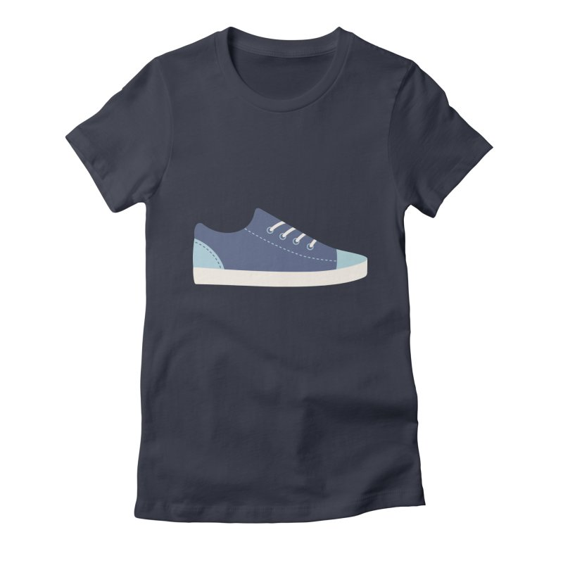 Blue Sneakers Pattern Women's Fitted T-Shirt by abstractocreate's Artist Shop