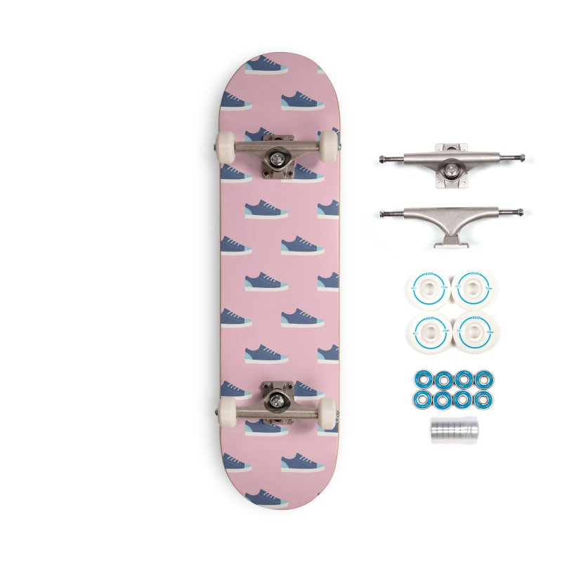 Blue Sneakers Pattern Accessories Complete - Basic Skateboard by abstractocreate's Artist Shop