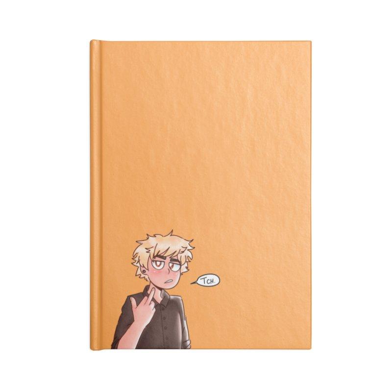 Tsundere Bakugou Accessories Notebook by Redd's Art Shoppe