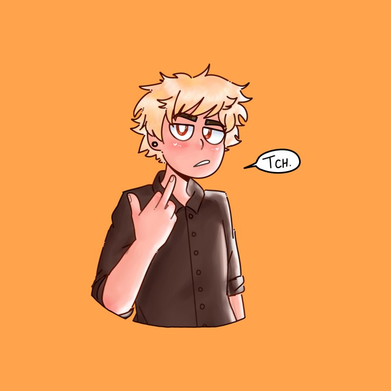 Tsundere Bakugou Men's T-Shirt by Redd's Art Shoppe