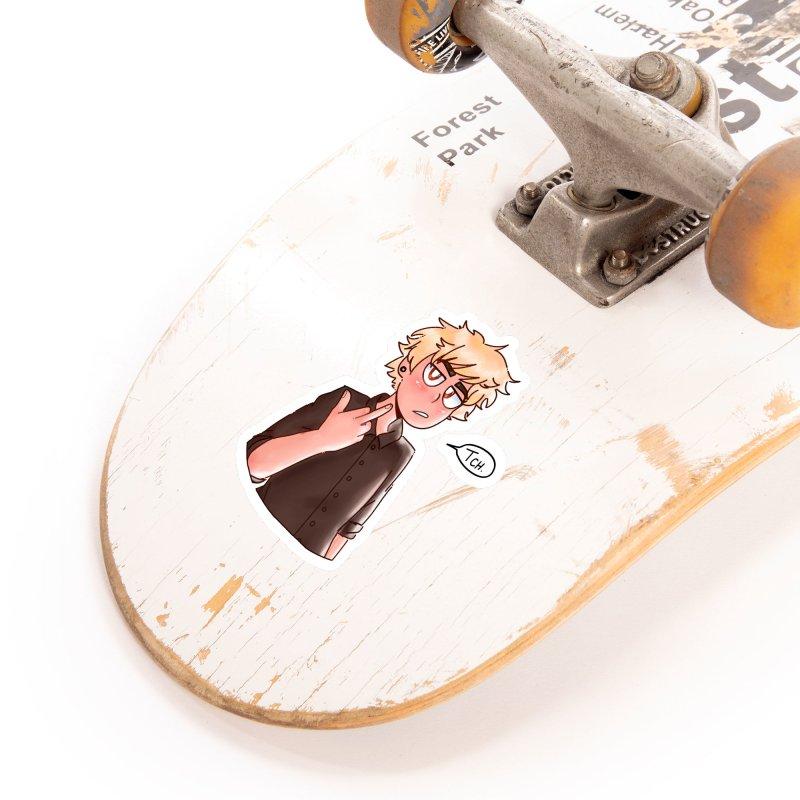Tsundere Bakugou Accessories Sticker by Redd's Art Shoppe