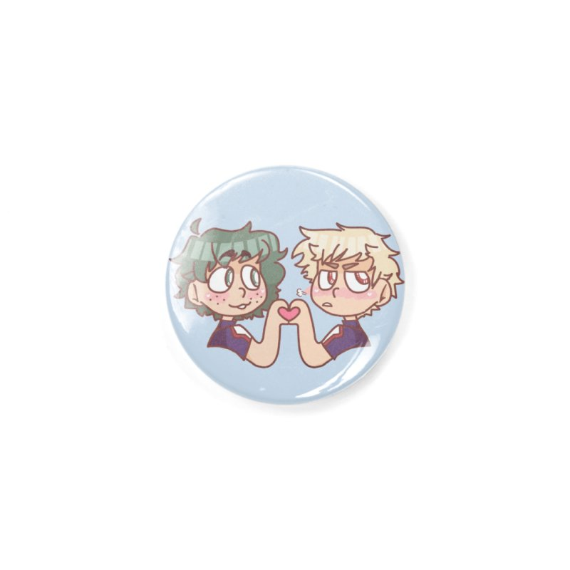 Izuku and Bakugou Heart Hands Accessories Button by Redd's Art Shoppe