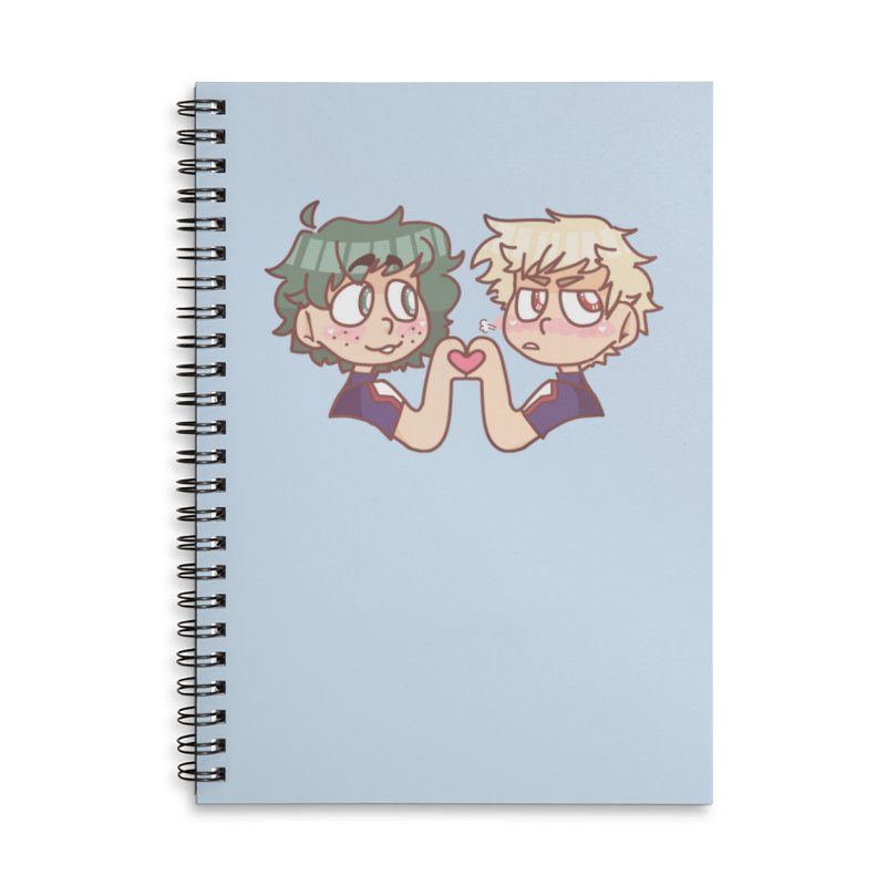 Izuku and Bakugou Heart Hands Accessories Notebook by Redd's Art Shoppe