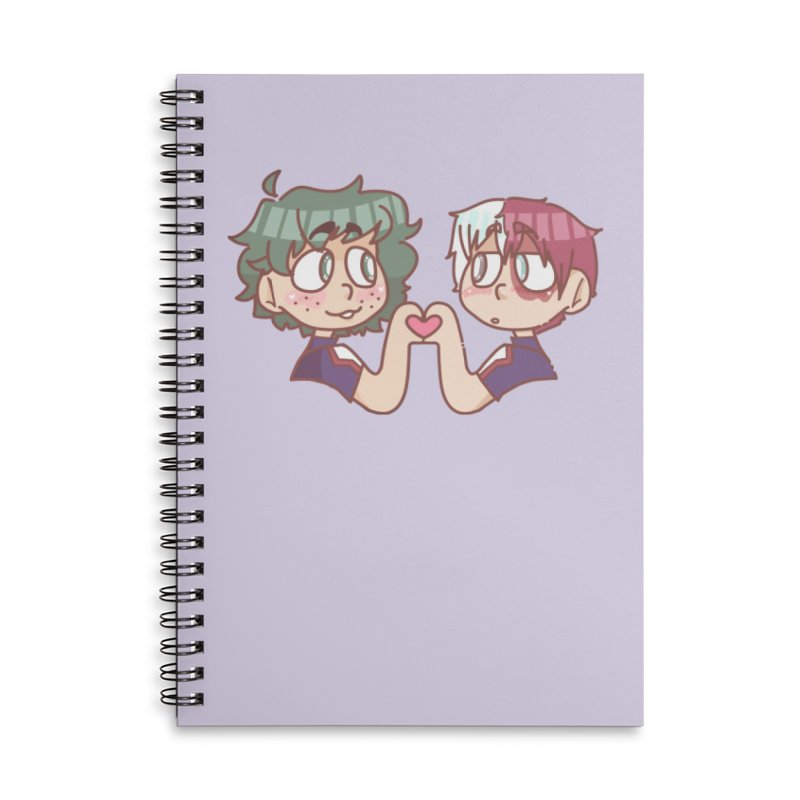 Izuku and Todoroki Heart Hands Accessories Notebook by Redd's Art Shoppe