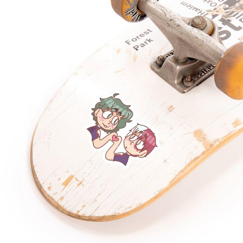 Izuku and Todoroki Heart Hands Accessories Sticker by Redd's Art Shoppe