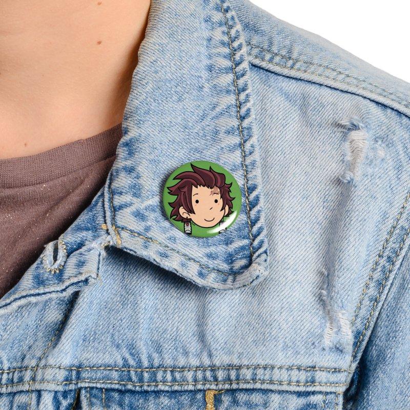 Tanjiro Kamado Chibi Accessories Button by Redd's Art Shoppe