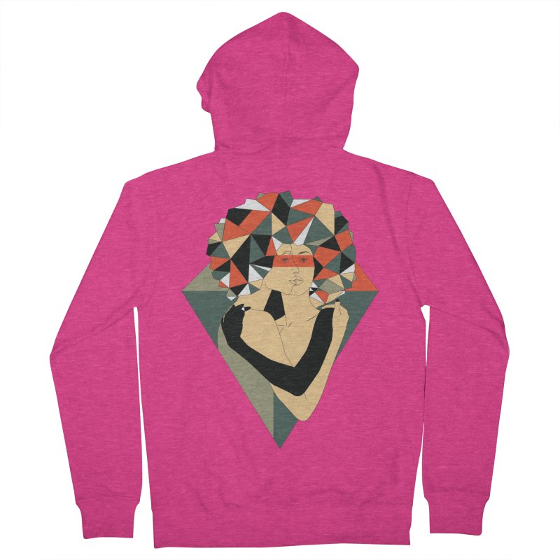 Mixed Jewels Women's Zip-Up Hoody by abstrato's Artist Shop