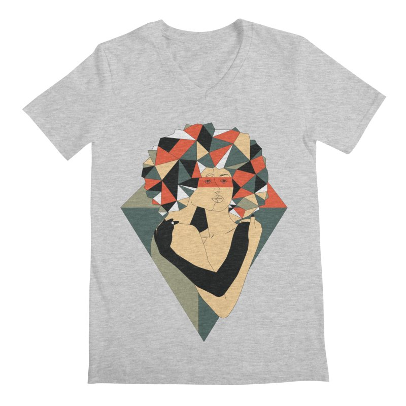 Mixed Jewels Men's V-Neck by abstrato's Artist Shop