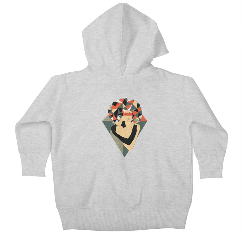 Mixed Jewels Kids Baby Zip-Up Hoody by abstrato's Artist Shop