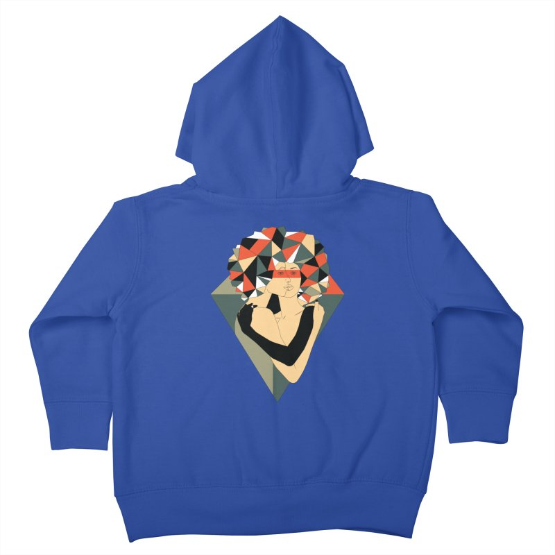 Mixed Jewels Kids Toddler Zip-Up Hoody by abstrato's Artist Shop