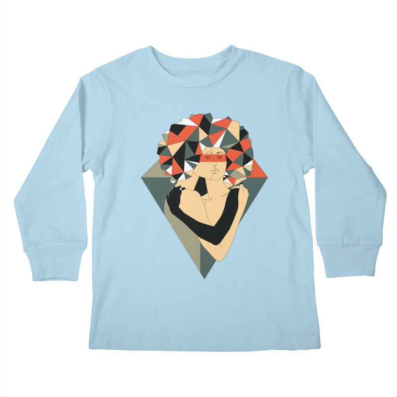 Mixed Jewels Kids Longsleeve T-Shirt by abstrato's Artist Shop