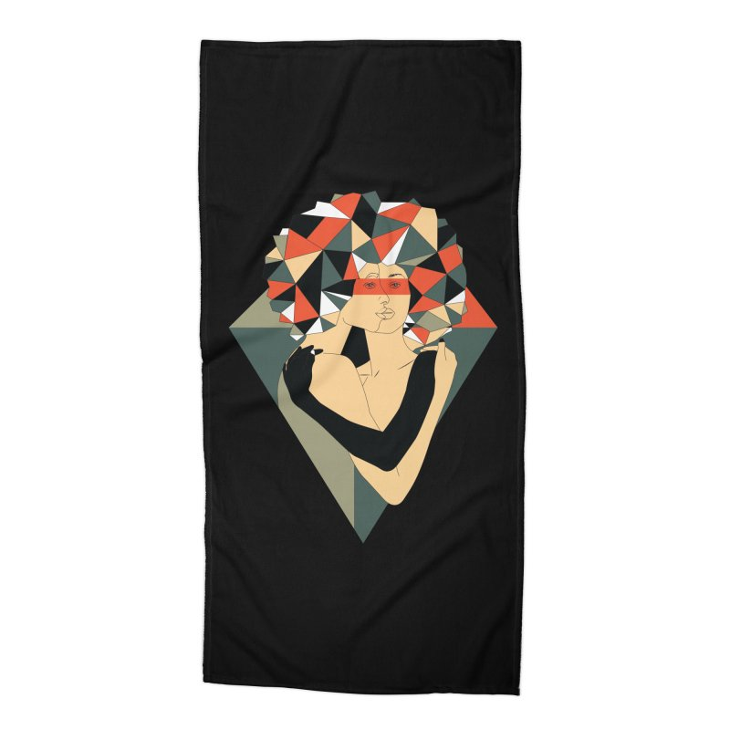 Mixed Jewels Accessories Beach Towel by abstrato's Artist Shop
