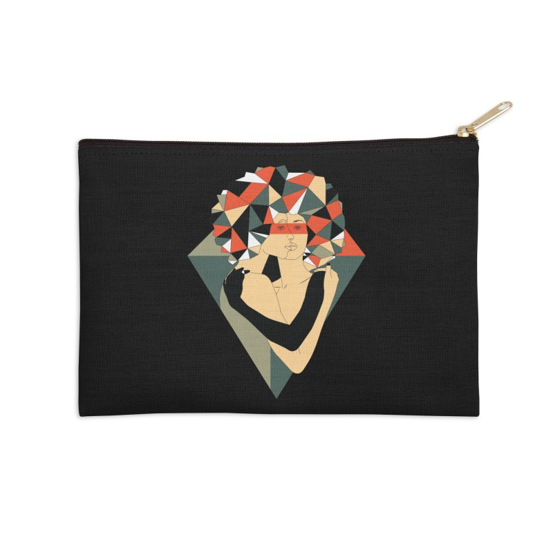 Mixed Jewels Accessories Zip Pouch by abstrato's Artist Shop