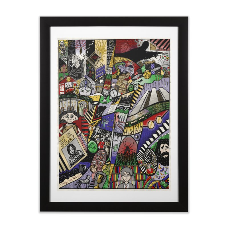 The B0y Wh0 Lyved in Framed Fine Art Print Black by Absurd Digital Imagery