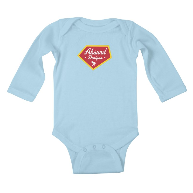 Absurd Badge 1 Kids Baby Longsleeve Bodysuit by AbsurdDesigns's Artist Shop