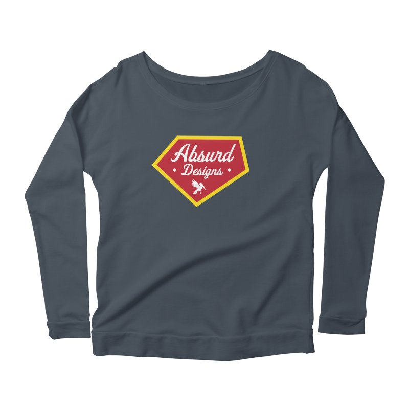 Absurd Badge 1 Women's Longsleeve Scoopneck  by AbsurdDesigns's Artist Shop
