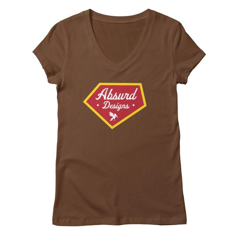 Absurd Badge 1 Women's V-Neck by AbsurdDesigns's Artist Shop