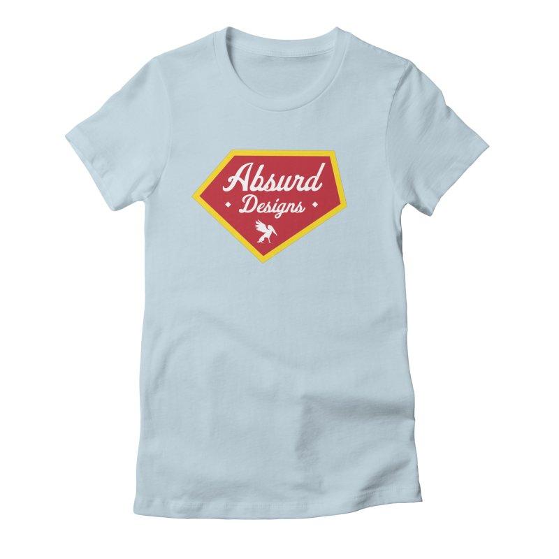Absurd Badge 1 Women's Fitted T-Shirt by AbsurdDesigns's Artist Shop