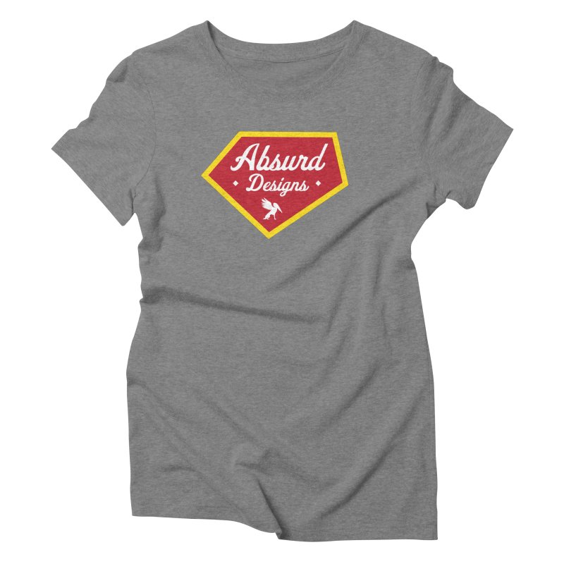 Absurd Badge 1 Women's Triblend T-shirt by AbsurdDesigns's Artist Shop
