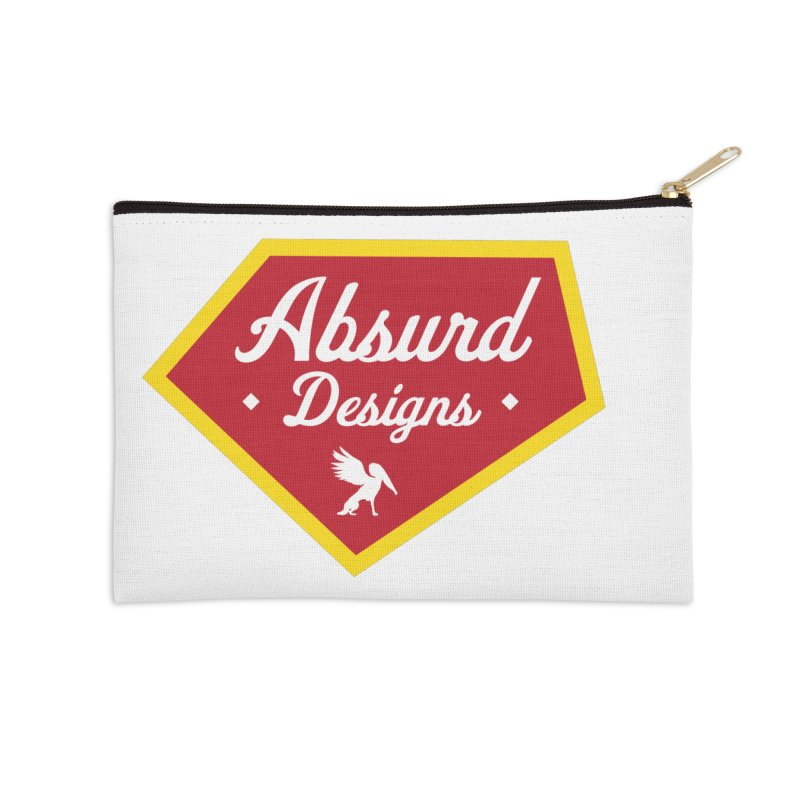 Absurd Badge 1 Accessories Zip Pouch by AbsurdDesigns's Artist Shop