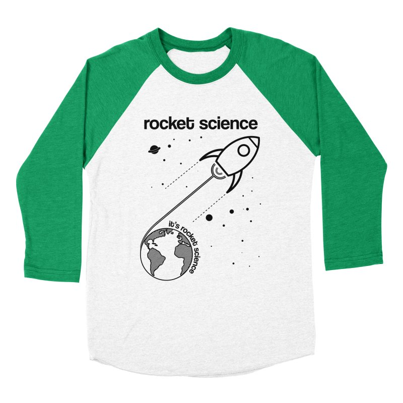 Rocket Science Men's Baseball Triblend T-Shirt by AbsurdDesigns's Artist Shop