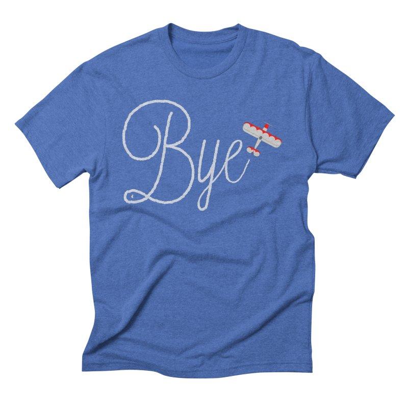 Bye Plane Men's Triblend T-Shirt by AbsurdDesigns's Artist Shop