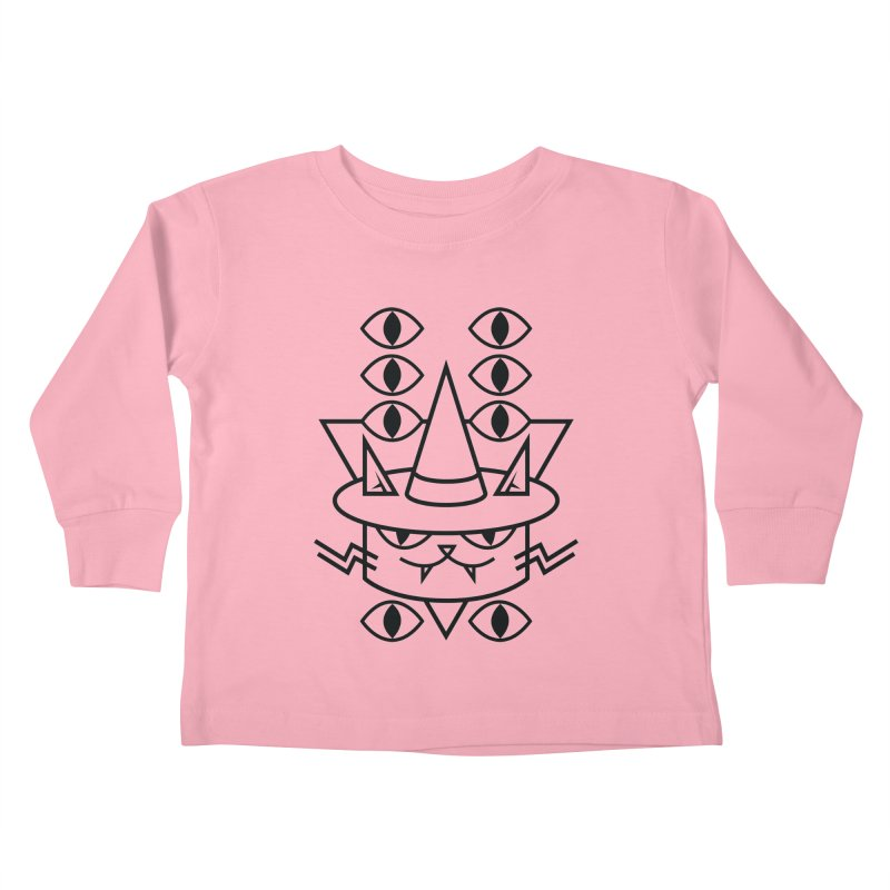 Cat Witch Kids Toddler Longsleeve T-Shirt by Abyssmal