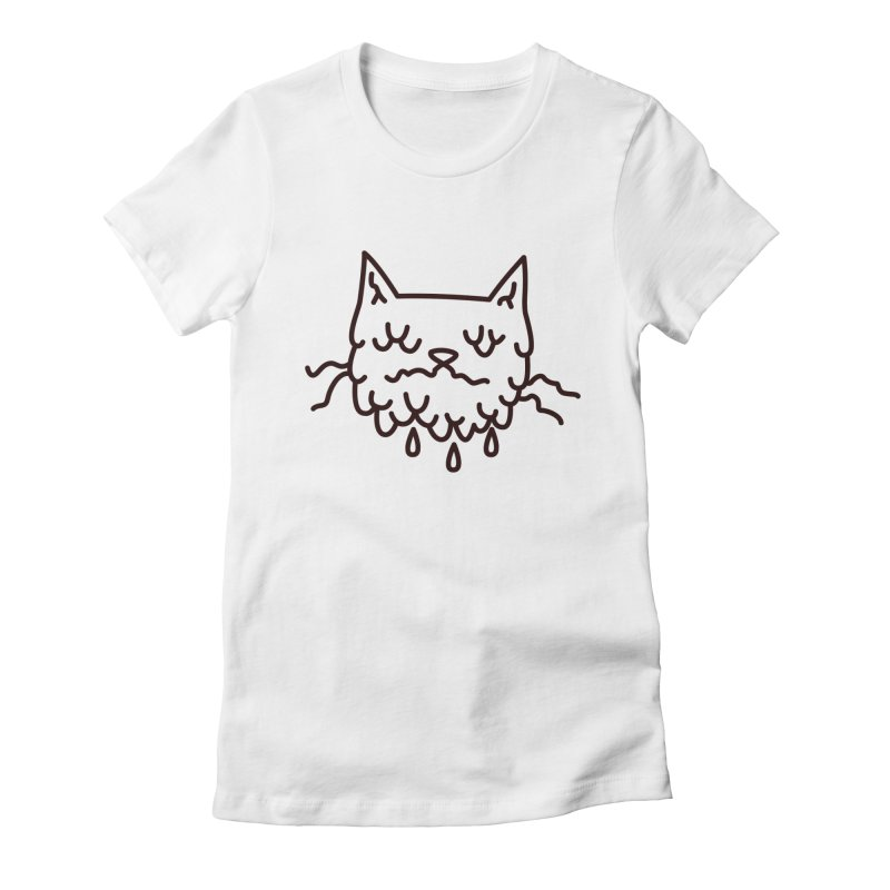 Melty Cat Women's Fitted T-Shirt by Abyssmal