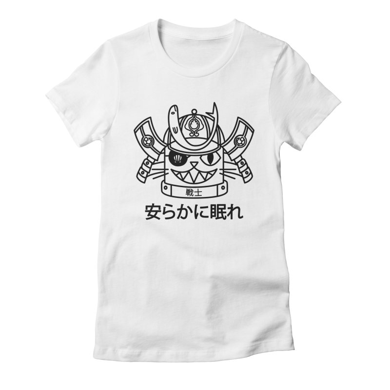 Neko Senshi Women's Fitted T-Shirt by Abyssmal