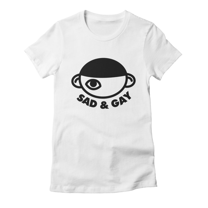 Sad & Gay Women's Fitted T-Shirt by Abyssmal