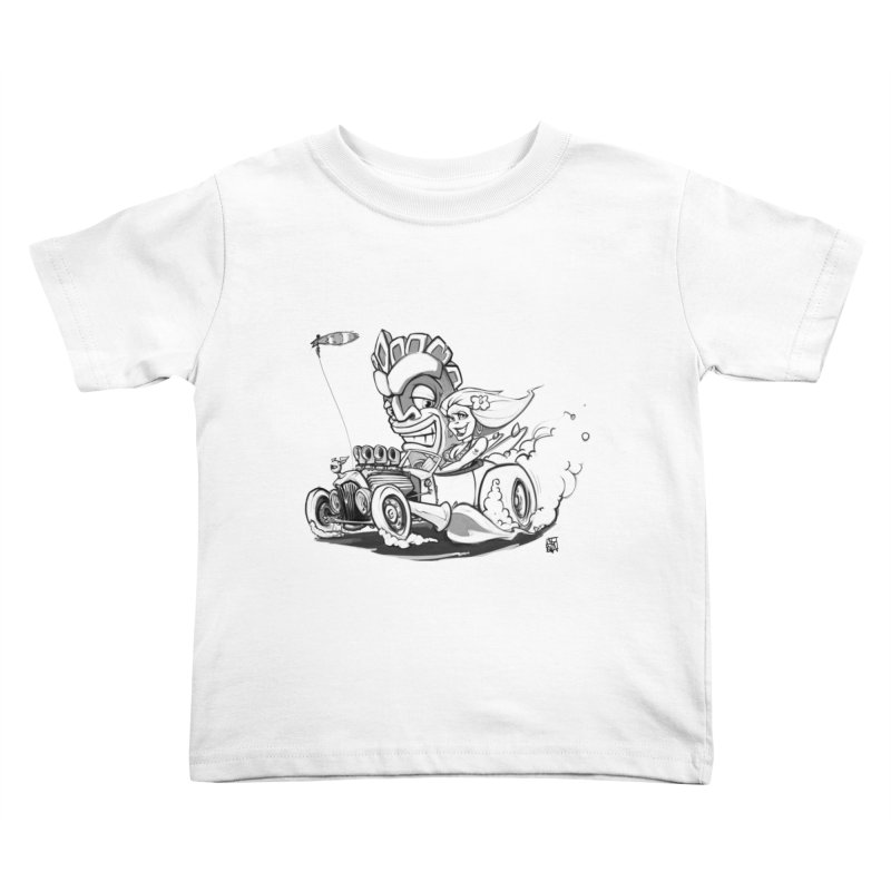 going down tiki way Kids Toddler T-Shirt by accable art shop