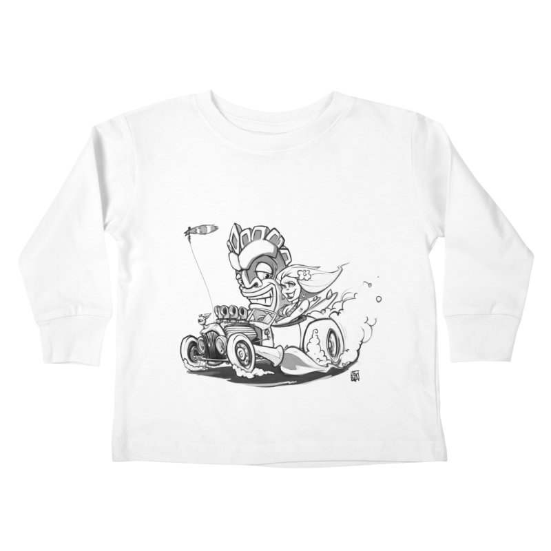 going down tiki way Kids Toddler Longsleeve T-Shirt by accable art shop
