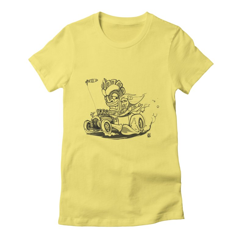 going down tiki way Women's Fitted T-Shirt by accable art shop
