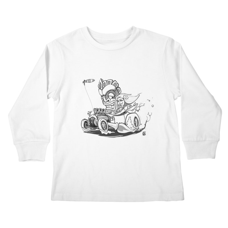 going down tiki way Kids Longsleeve T-Shirt by accable art shop