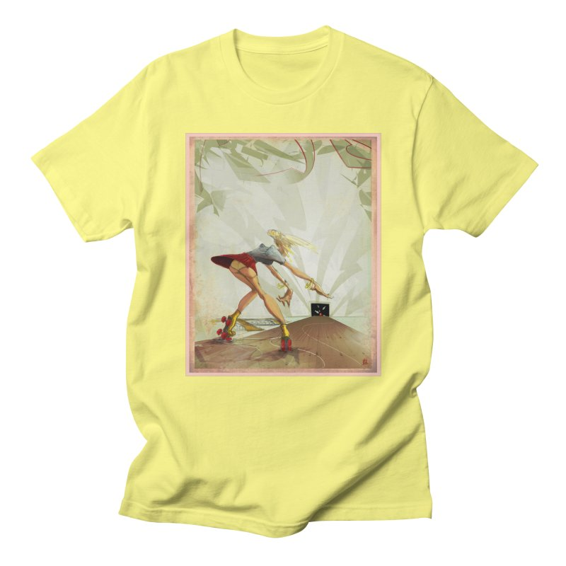 roller bowler Men's T-shirt by accable art shop