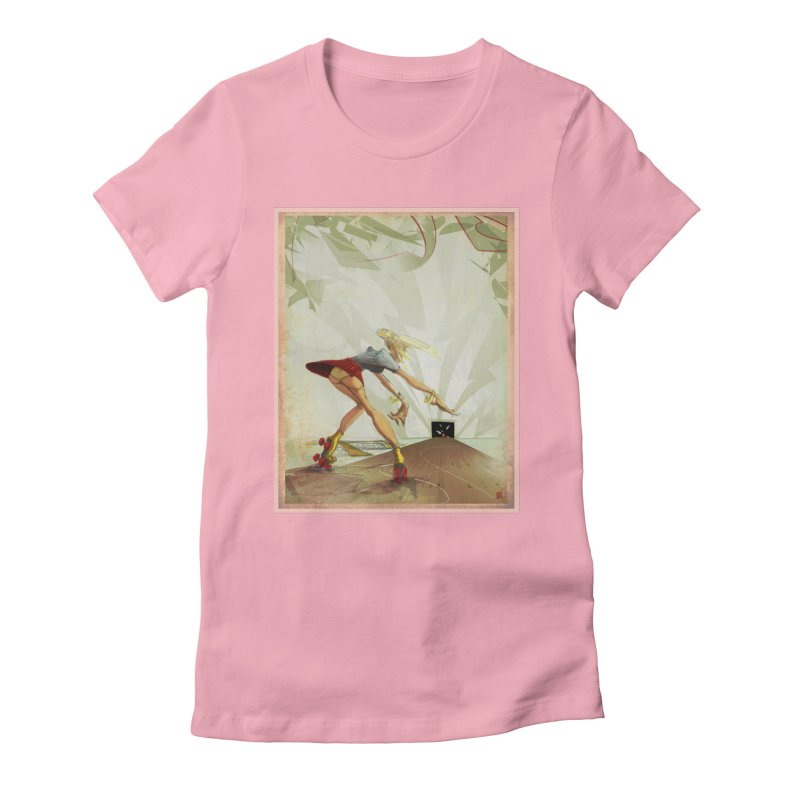 roller bowler Women's Fitted T-Shirt by accable art shop