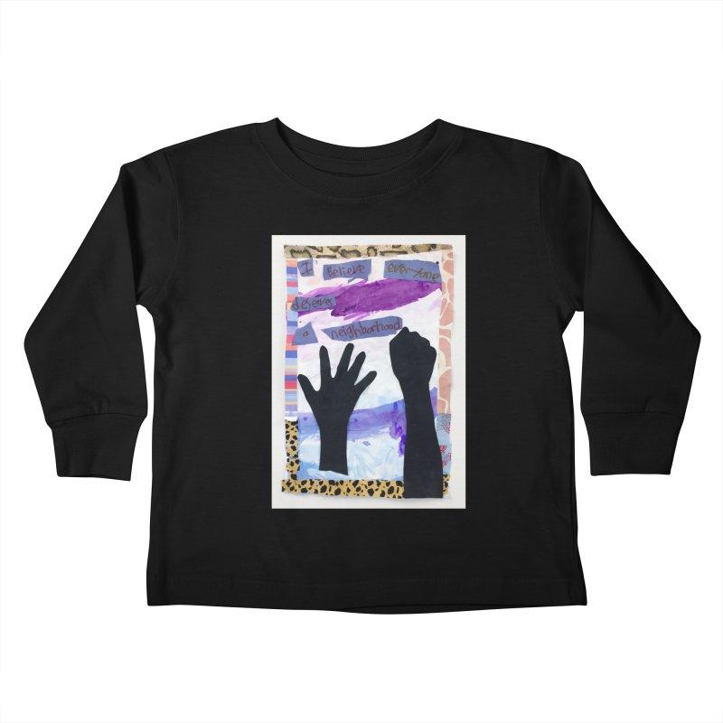 I Believe Kids Toddler Longsleeve T-Shirt by Access Art's Youth Artist Shop