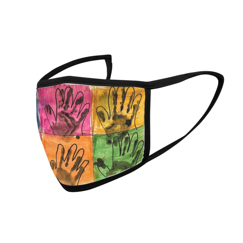 Warhol Hands Accessories Face Mask by Access Art's Youth Artist Shop
