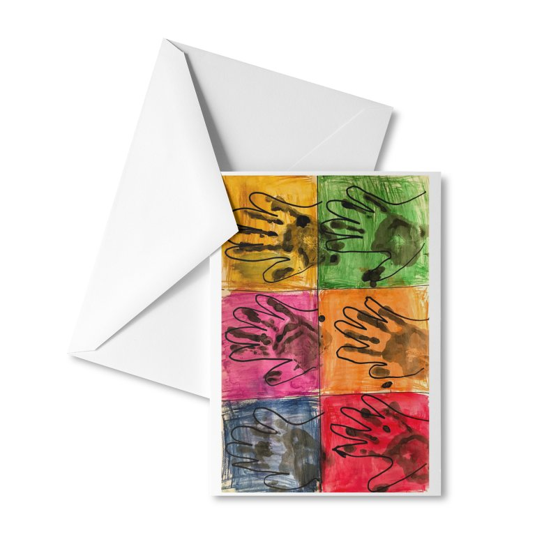 Warhol Hands Accessories Greeting Card by Access Art's Youth Artist Shop