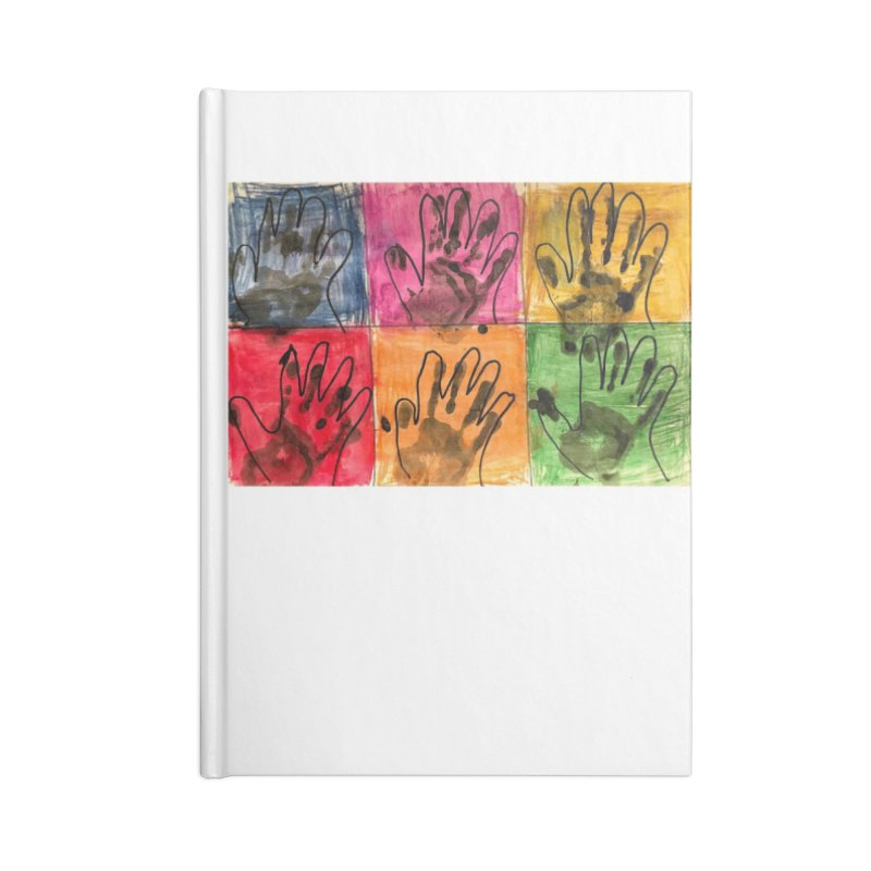 Warhol Hands Accessories Notebook by Access Art's Youth Artist Shop