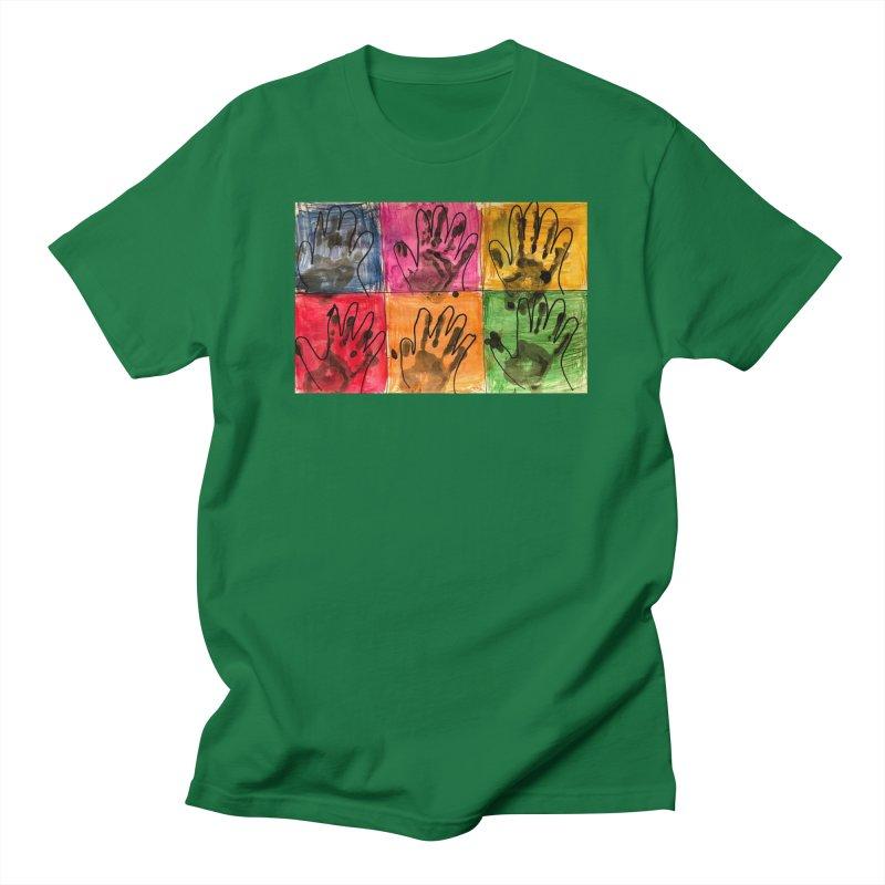 Warhol Hands Men's T-Shirt by Access Art's Youth Artist Shop