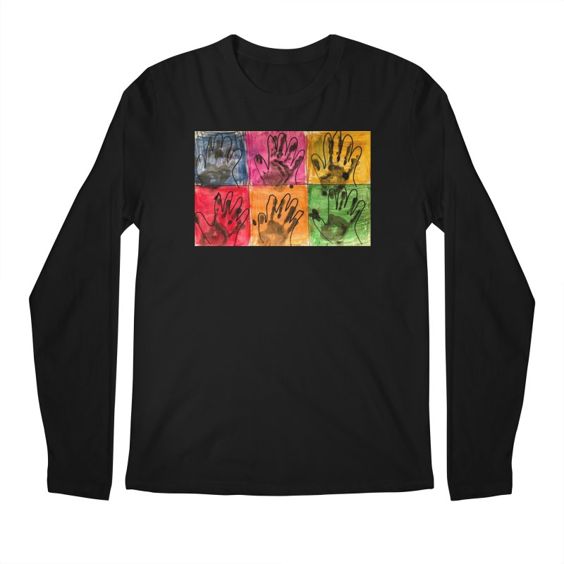 Warhol Hands Men's Longsleeve T-Shirt by Access Art's Youth Artist Shop