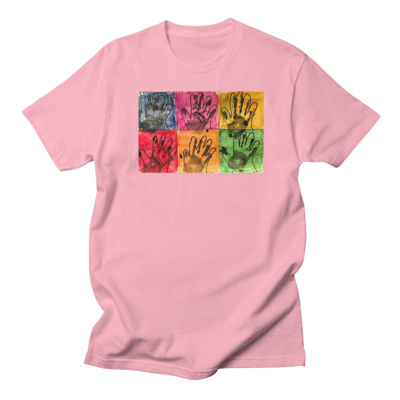 Warhol Hands Men's T-Shirt by Access Art's Youth Artist Shop