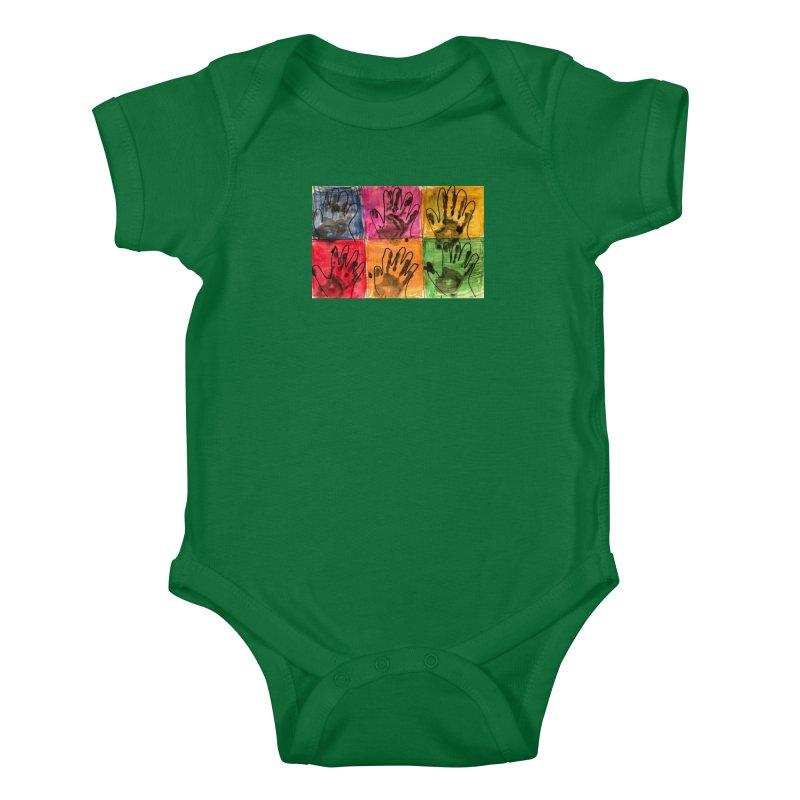 Warhol Hands Kids Baby Bodysuit by Access Art's Youth Artist Shop