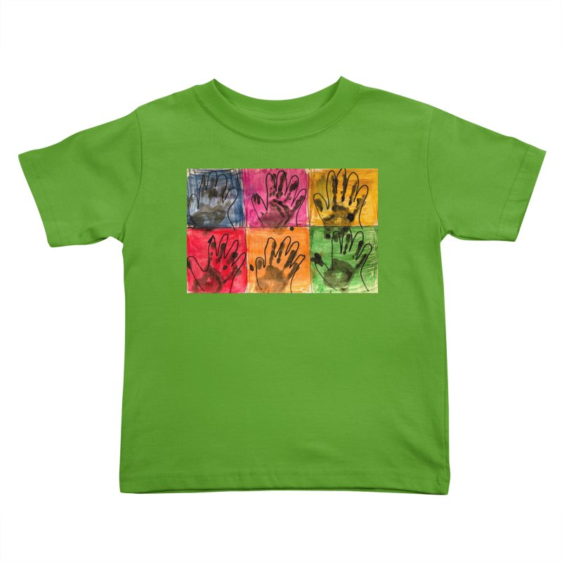 Warhol Hands Kids Toddler T-Shirt by Access Art's Youth Artist Shop