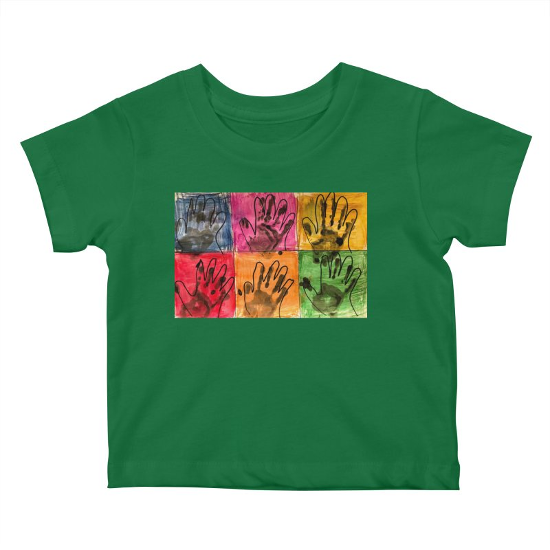 Warhol Hands Kids Baby T-Shirt by Access Art's Youth Artist Shop