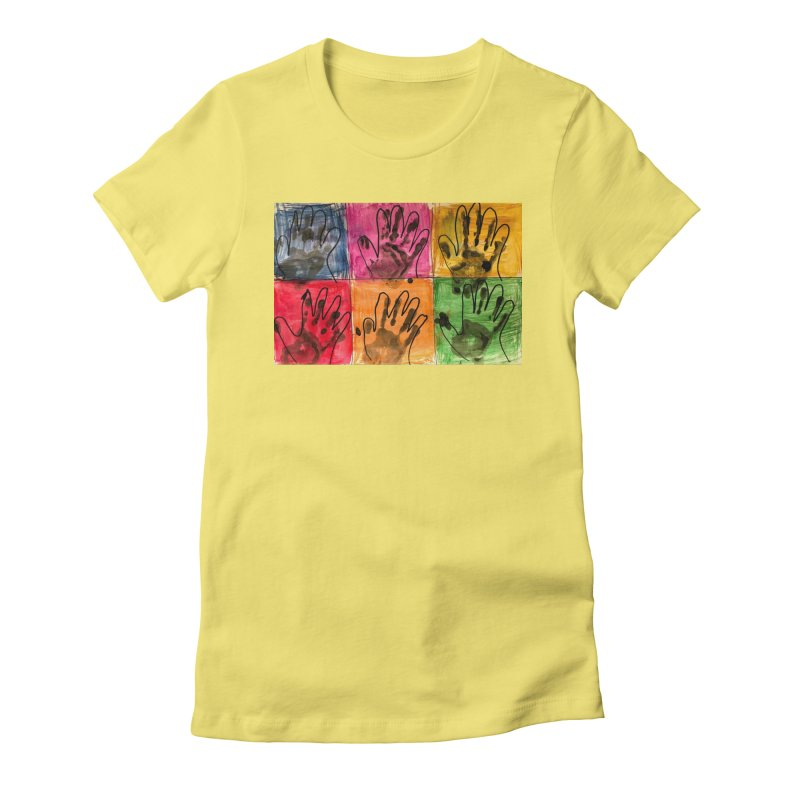 Warhol Hands Women's T-Shirt by Access Art's Youth Artist Shop